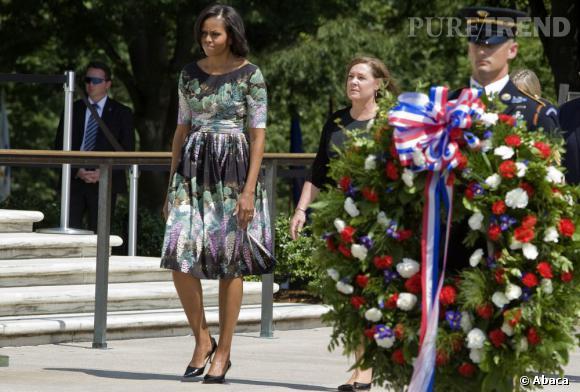 Michelle Obama commence la campagne de son mari avec style.