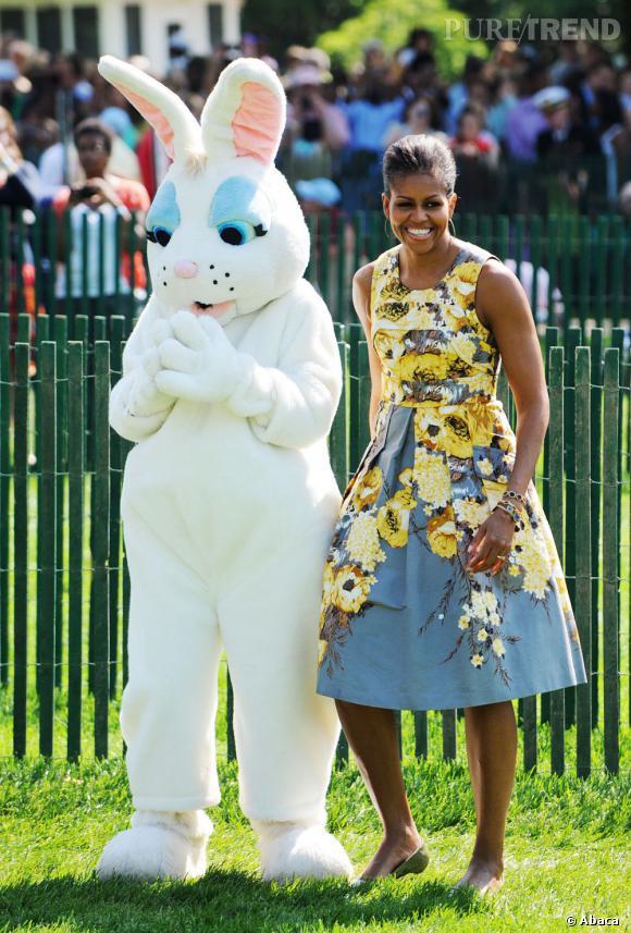 Michelle Obama, un modèle d'élégance pour fêter Pâques.