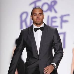 Lorsqu'on oublie ses allures de rappeurs et ses vêtements trop grand, Chris a plutôt la classe sur podium.