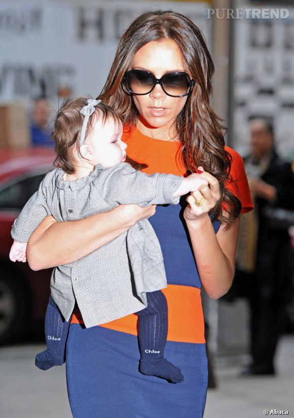 Victoria Beckham et la petite Harper, une fashion victim en puissance.