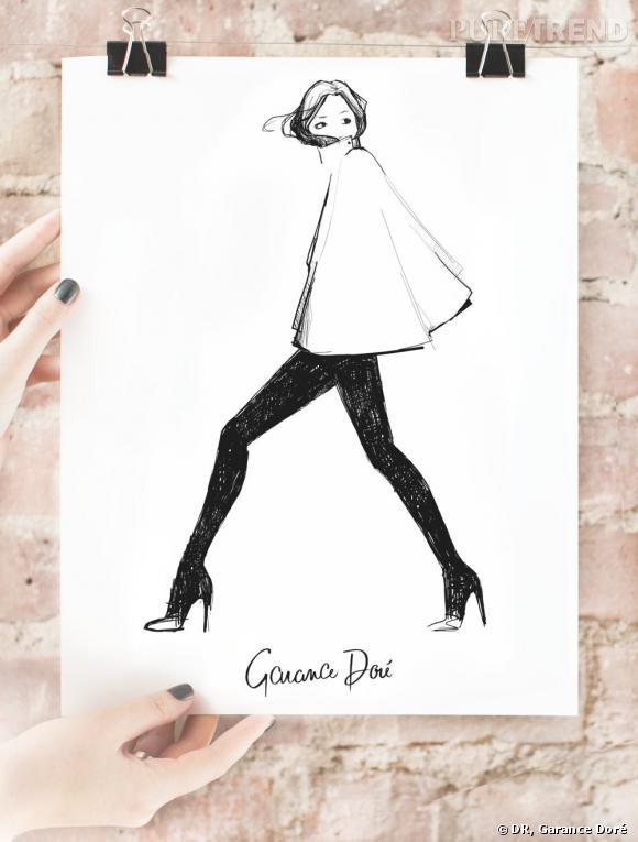 Garance Doré ouvre son e-shop ! A shopper : ses croquis version posters    Image : poster My Cape, 40 $ à shopper sur  shop.garancedore.fr
