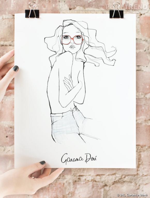 Garance Doré ouvre son e-shop ! A shopper : ses croquis version posters    Image : poster The One, 40 $ à shopper sur  shop.garancedore.fr