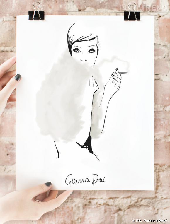 Garance Doré ouvre son e-shop ! A shopper : ses croquis version posters    Image : poster The Last Smoke, 40 $ à shopper sur  shop.garancedore.fr