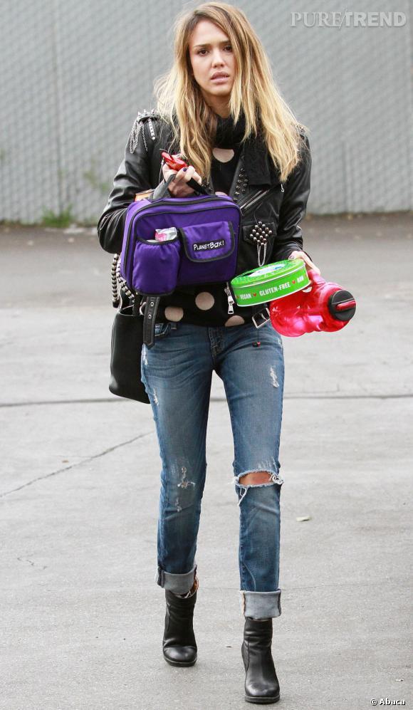 Jessica Alba est une actrice, mais c'est aussi une maman très occupée ! Il s'agit de n'oublier aucun goûter !