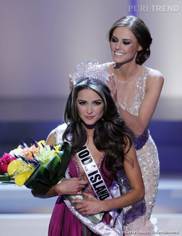 Olivia Culpo lors de son couronnement de Miss USA.