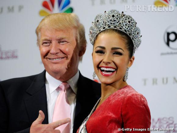 Olivia Culpo Miss Univers 2012 et Donald Trump l'homme derrière le concours de beauté.