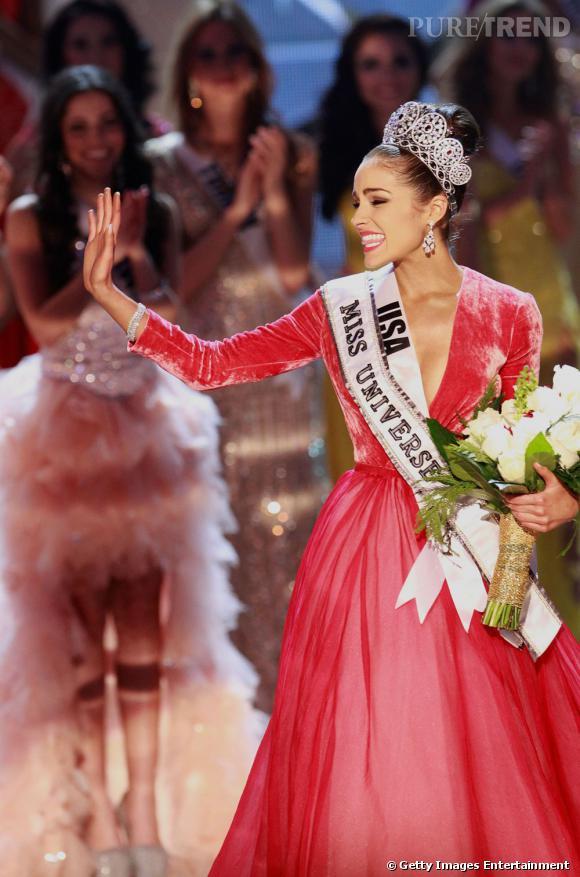 Olivia Culpo a été élue Miss Univers à Las Vegas ce mercredi.