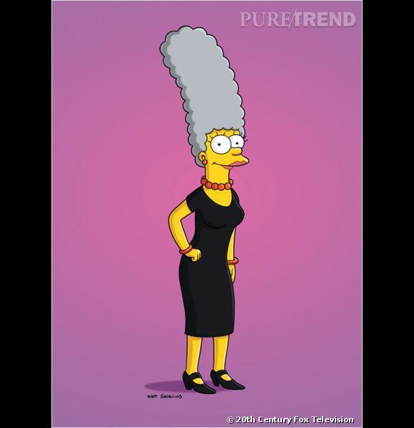 La coiffure culte : La coiffure barbapapa de Marge Simpson.