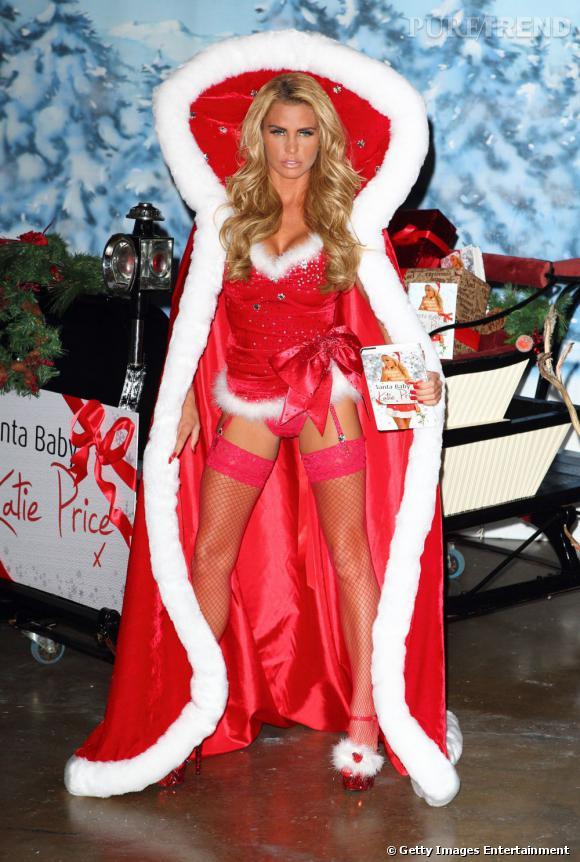 """Le flop """"Mère Noël sexy"""" : Katie Price ou le chic incarné."""