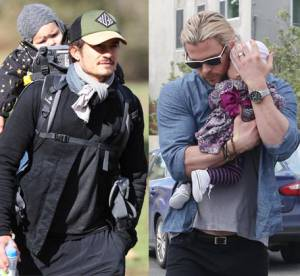 Orlando Bloom vs Chris Hemsworth : match de papa poule sexy