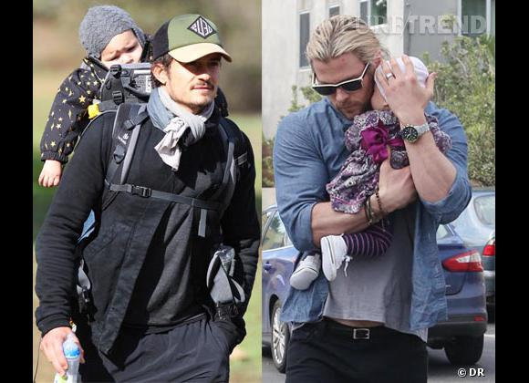 Orlando Bloom vs Chris Hemsworth, qui est le papa le plus sexy ?