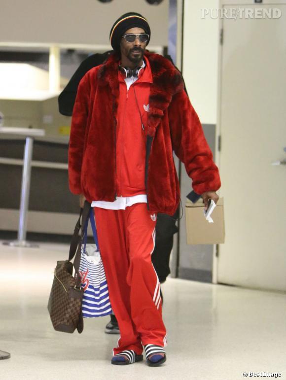 Snoop Dogg / Lion à l'aéroport de Los Angeles, un vrai flop ambulant !