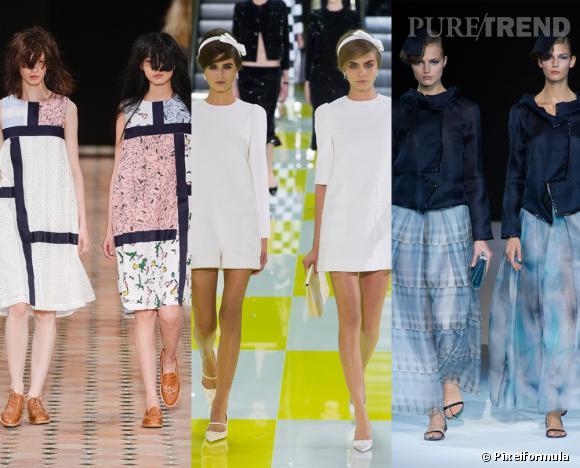 Les tendances phares du Printemps-Eté 2013 : les jumelles        Vues aux défilés Julien David, Louis Vuitton et Giorgio Armani