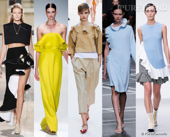 Les tendances phares du Printemps-Eté 2013 : les volants        Vus aux défilés Balenciaga, Gucci, Chloé, Givenchy et JW Anderson