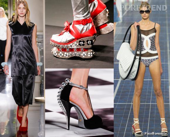 Les tendances phares du Printemps-Eté 2013 : les accessoires fous       Des escarpins en fourrure Céline au sac hula hoop Chanel en passant par les sandales Prada et Viktor & Rolf, les accessoires se dévergondent.