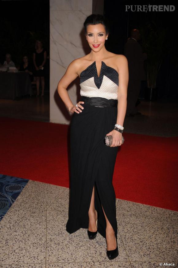 Kim Kardashian lors d\u0026039;une soirée à la Maison Blanche en 2010.