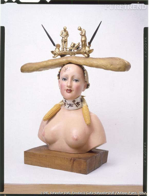 Salvador Dali Buste de femme retrospectif 1933 Edition Galerie du Dragon Paris en 1976 Collection Enrique Sabater.