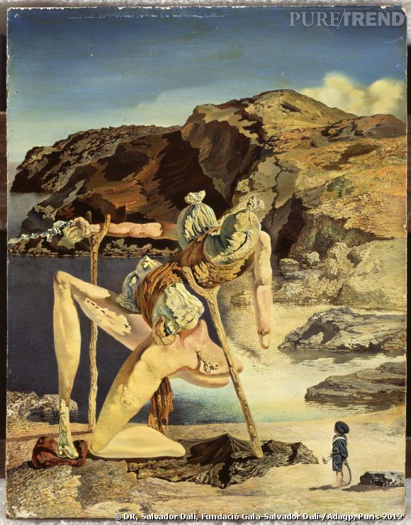 Le spectre du sexappeal, vers 1934. Huile sur bois - 17,9 x 13,9 cm Fundació Gala-Salvador Dalí, Figueres.