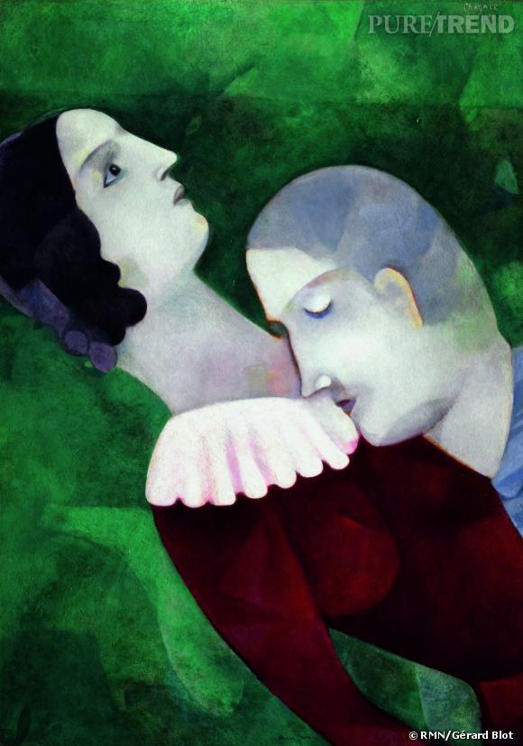 Marc Chagall - Les amoureux en vert, 1916-1917