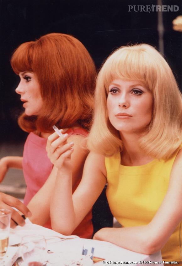 "Françoise Dorléac  et  Catherine Deneuve  , ""Les Demoiselles de Rochefort"", 1966."
