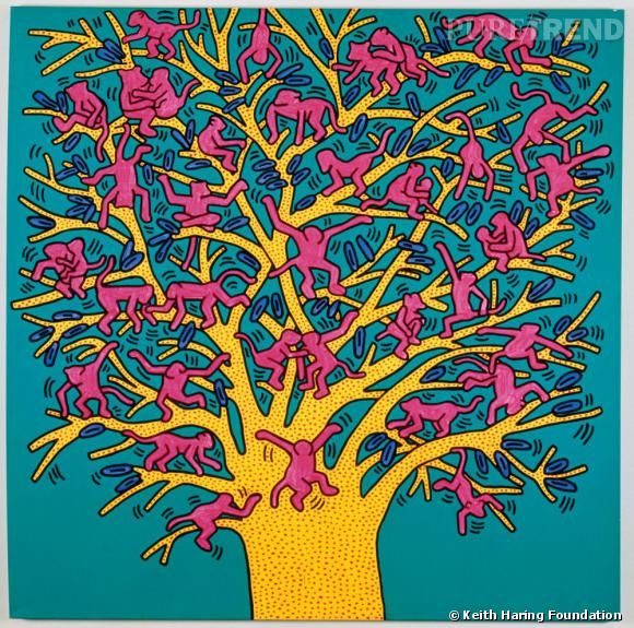 Keith Haring, The Tree of Monkeys, Septembre 1984. Courtesy Fondazione Orsi. Acrylique sur toile.