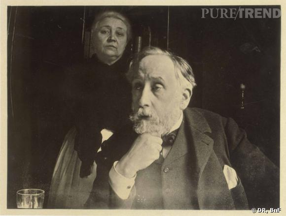 Edgar Degas (1834-1917)? Autoportrait avec Zoé Clousier, automne 1895. Tirage argentique. Don en 1920 de René Degas, frère de l'artiste. BnF, Estampes et photographie.