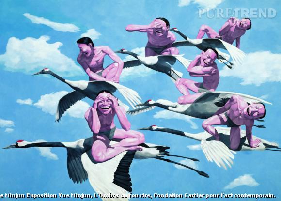 "Yue Minjun, ""Sky"", 1997. Huile sur toile Collection privée, Europe."