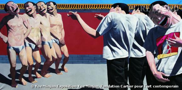 "Yue Minjun, ""The Execution"", 1995 Huile sur toile. Collection privée."