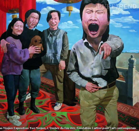 "Yue Minjun, ""On the Rostrum of Tiananmen"", 1992. Huile sur toile Collection Herman Iskandar, Jakarta."