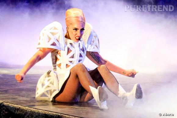 Lady Gaga durant son impressionnant concert au Canada.