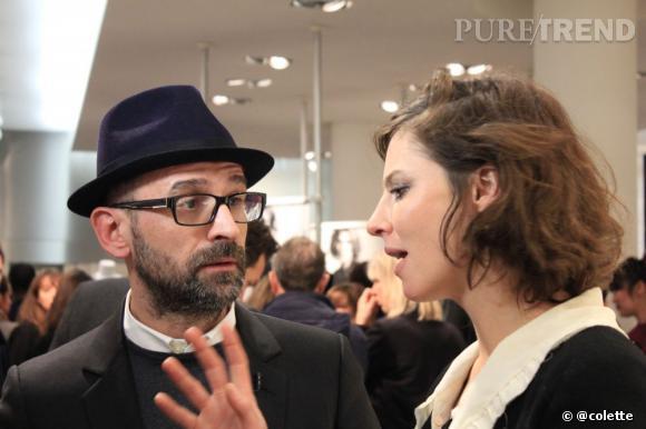 Anna Mouglalis  et Loïc Prigent à la soirée du 22 janvier 2013 chez colette.