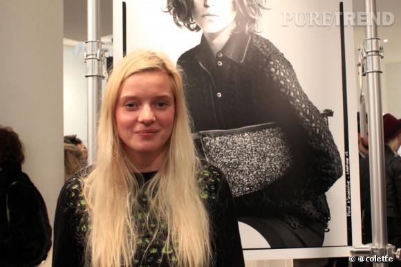 Pricilla, la designer de la marque Pièce d'Anarchive à la soirée du 22 janvier 2013 chez colette.