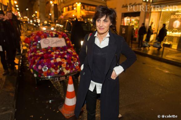Ines de la Fressange à la soirée du 22 janvier 2013 chez colette.