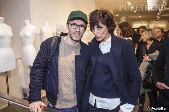 Loïc Prigent et Ines de la Fressange à la soirée du 22 janvier 2013 chez colette.