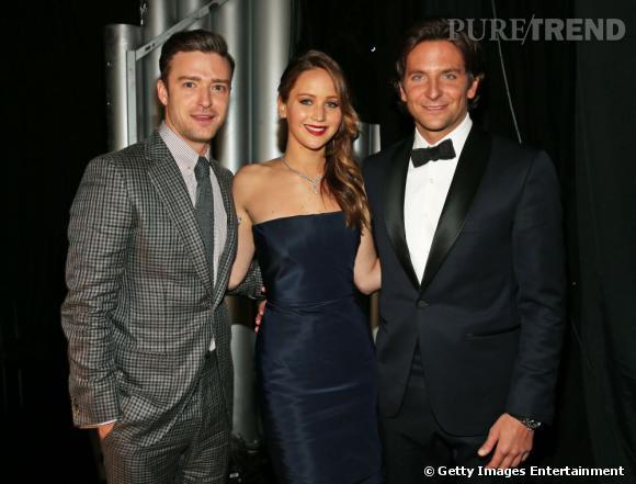 Jennifer Lawrence, Bradley Cooper et Justin Timberlake aux SAG Awards 2013.