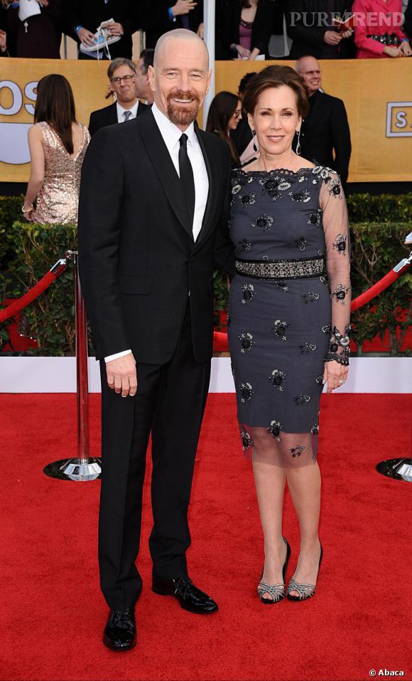Bryan Cranston et sa femme aux SAG Awards 2013.