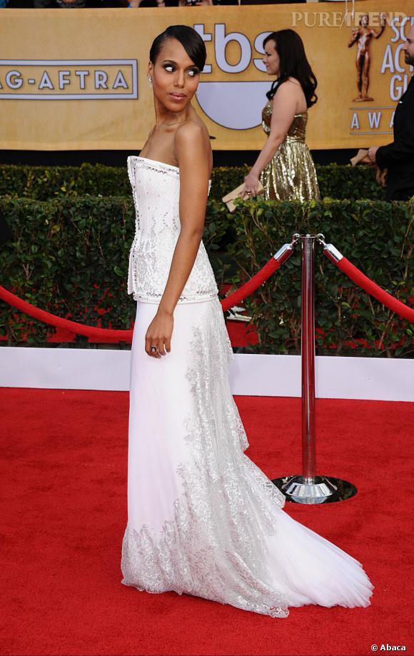 Kerry Washington aux SAG Awards 2013 porte une robe Rodarte.