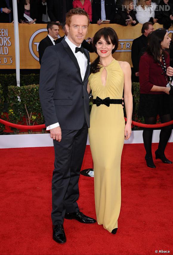 Damian Lewis et sa femme aux SAG Awards 2013.