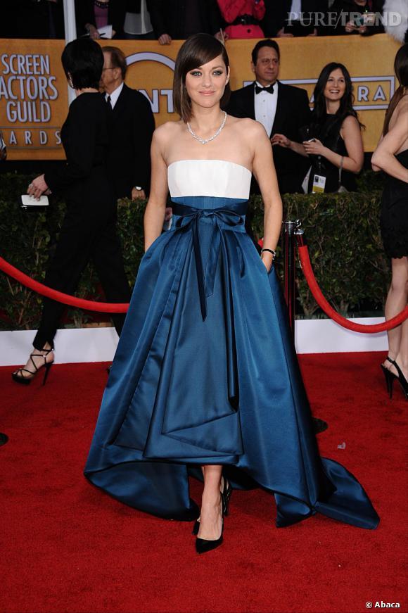 Marion Cotillard aux SAG Awards porte une robe Christian Dior Pré-collection Automne 2013.