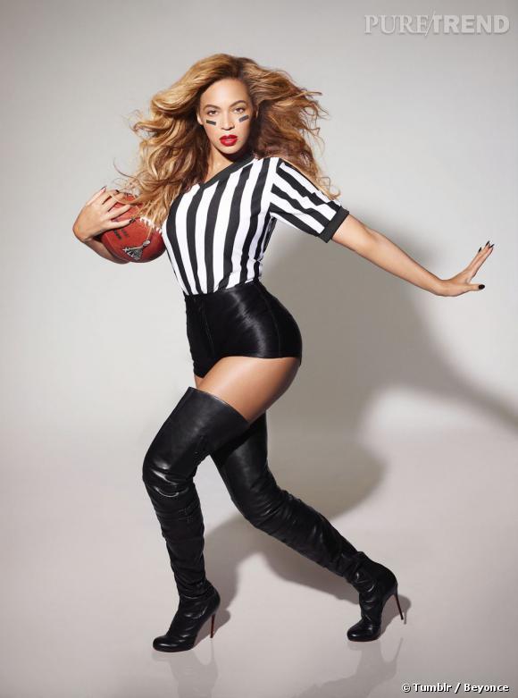 Beyoncé Knowles, sportive la plus sexy pour la mi-temps du Super Bowl.