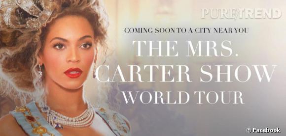 """Le """"The Mrs. Carter World Tour"""" débutera le 15 avril en Serbie et s'achèvera le 3 août au Barclay's Center de Brooklyn."""