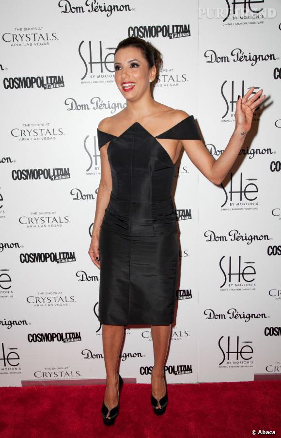 """Eva Longoria mauvaise robe à Las Vegas pour l'ouverture du restaurant et nightclub """"SHe by Morton's""""."""