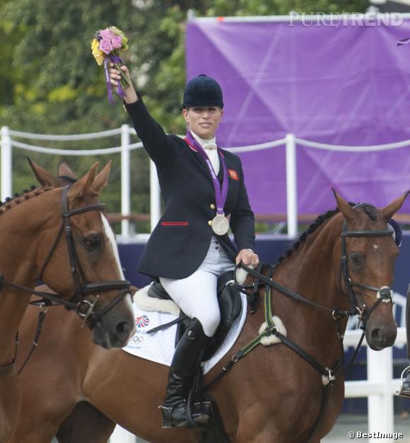 Zara Phillips a remporté la médaille d'argent aux JO de Londres 2012.