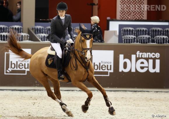 Charlotte Casiraghi sur son cheval GI Joe.