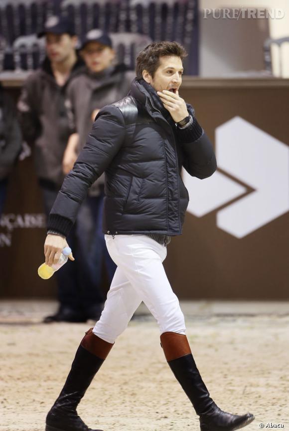 Guillaume Canet en cavalier chic au Jumping de Bordeaux.