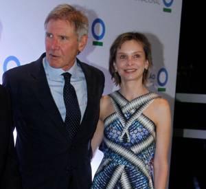 Calista Flockhart et Harrison Ford lors d'une soirée Conservation International à Sao Paulo au Brésil. Apparition ratée en Peter Pilotto.