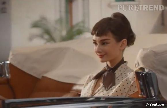 Audrey Hepburn dans la publicité pour les chocolats Galaxy.