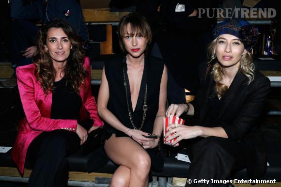 Mademoiselle Agnès, Laura Smet et Alexandra Golovanoff en front row du défilé Lanvin à Paris.
