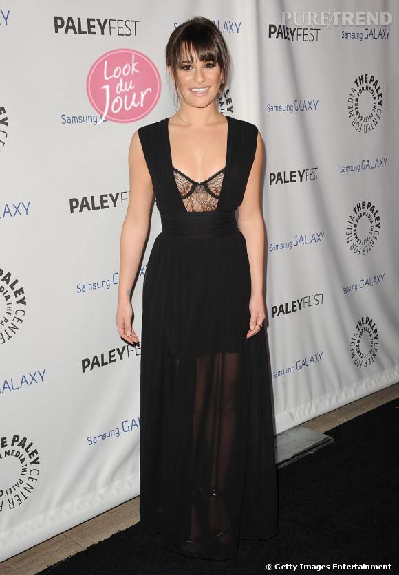 """Lea Michele, sublime pour participer à la soirée """"PaleyFest Icon Award"""" à Beverly Hills."""