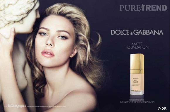 Scarlett Johansson, égérie sensuelle de Dolce & Gabbana.